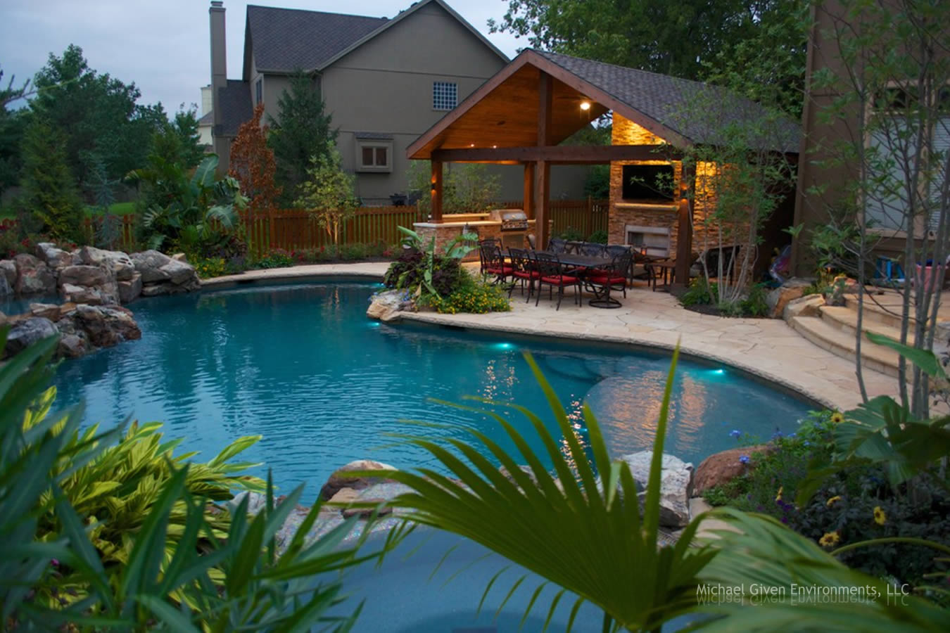 Backyard oasis gallery by michael given environments llc for Garden city pool jobs